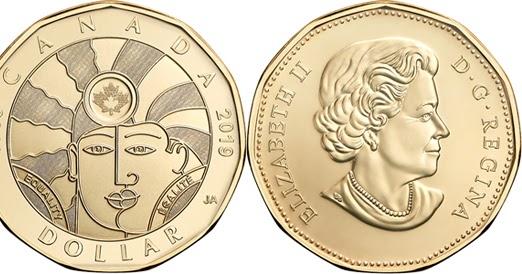 World Coin News Canada 1 Dollar 2019 Equality
