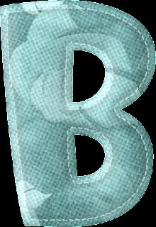 Alfabeto en Tela con Hojas Otoñales.