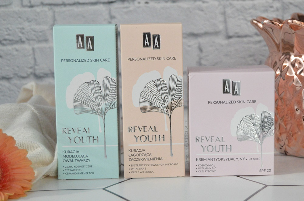 Kilka słów o serii Reveal Youth od Kosmetyki AA  -  kuracja i krem antyoksydacyjny