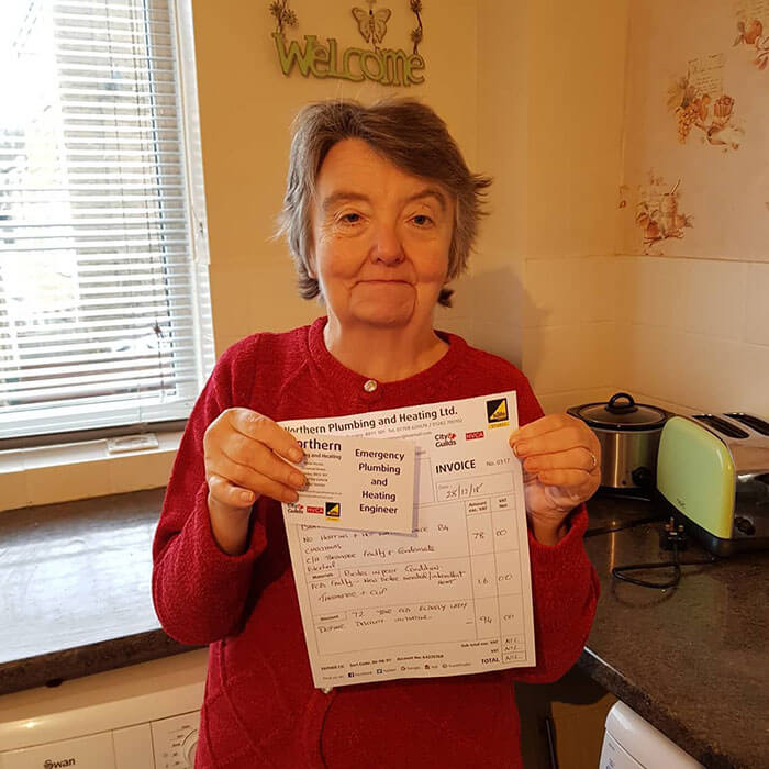 This Plumber's Invoice For Fixing 91-Year-Old Grandmother's Boiler Went Viral