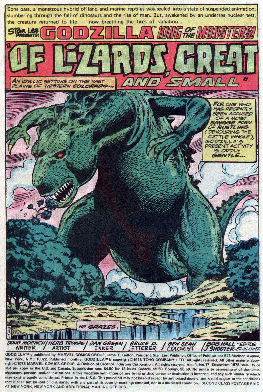 Godzilla (1977) Issue #17 #17 - English 2
