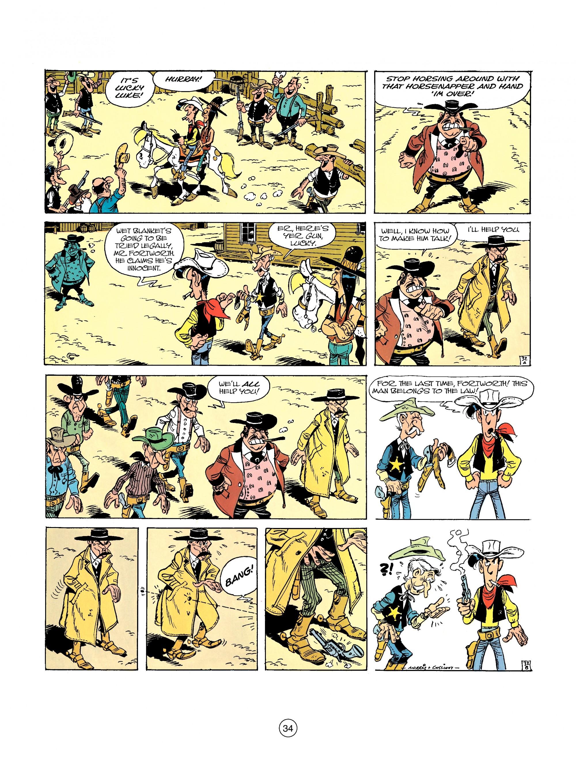 Read online A Lucky Luke Adventure comic -  Issue #26 - 34