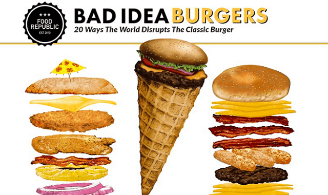 Bad Idea Burgers: 20 Ways The World Disrupts The Classic Burger