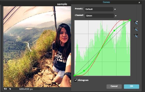 edit foto dengan curves editor