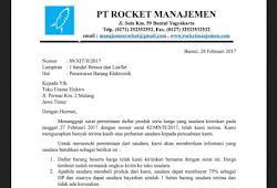 Contoh Surat Penawaran Barang Elektronik Dalam Bahasa Inggris
