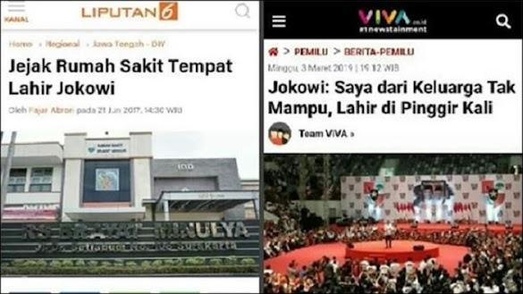 Mana yang Benar Pak Jokowi? Lahir di Pinggir Kali atau di Rumah Sakit?