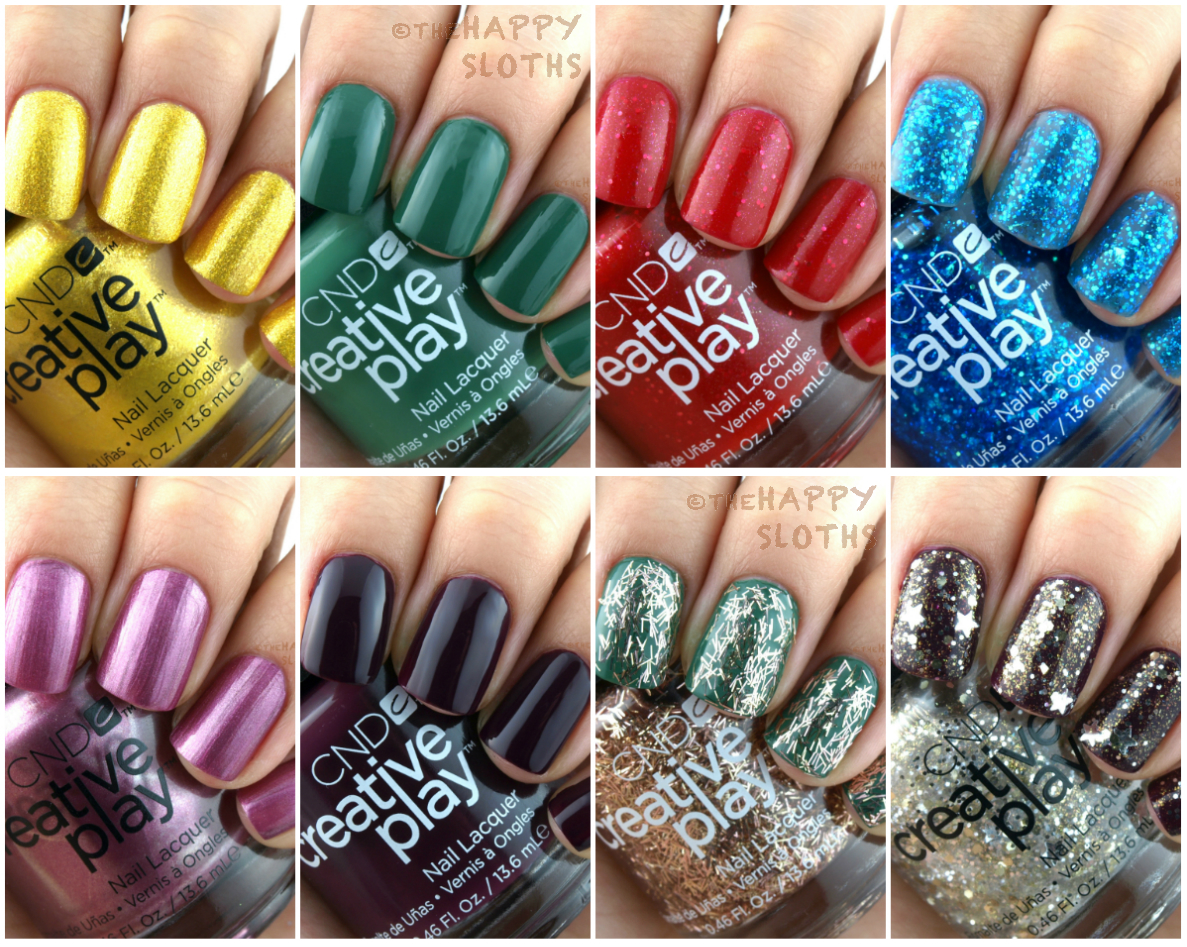 CND Holiday 2016 Creative Play Celebration Collection: Review and Swatches