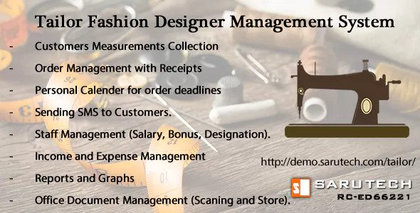 Tailor Fashion Designer Management System Script Download Tailor Fashion Designer Management System Script Download