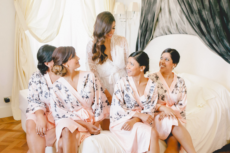 robes for bridesmaids, getting ready photos