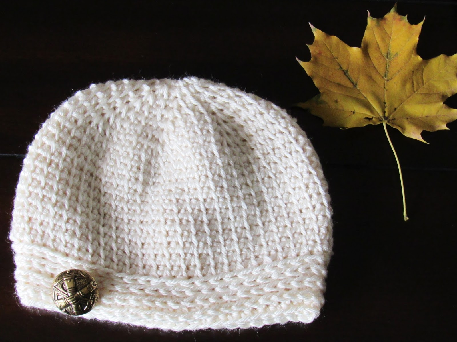 Faux Knit Beanie Crochet Pattern, 0-3 Months to Woman | Crochet ...