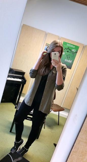 kiki groene blouse