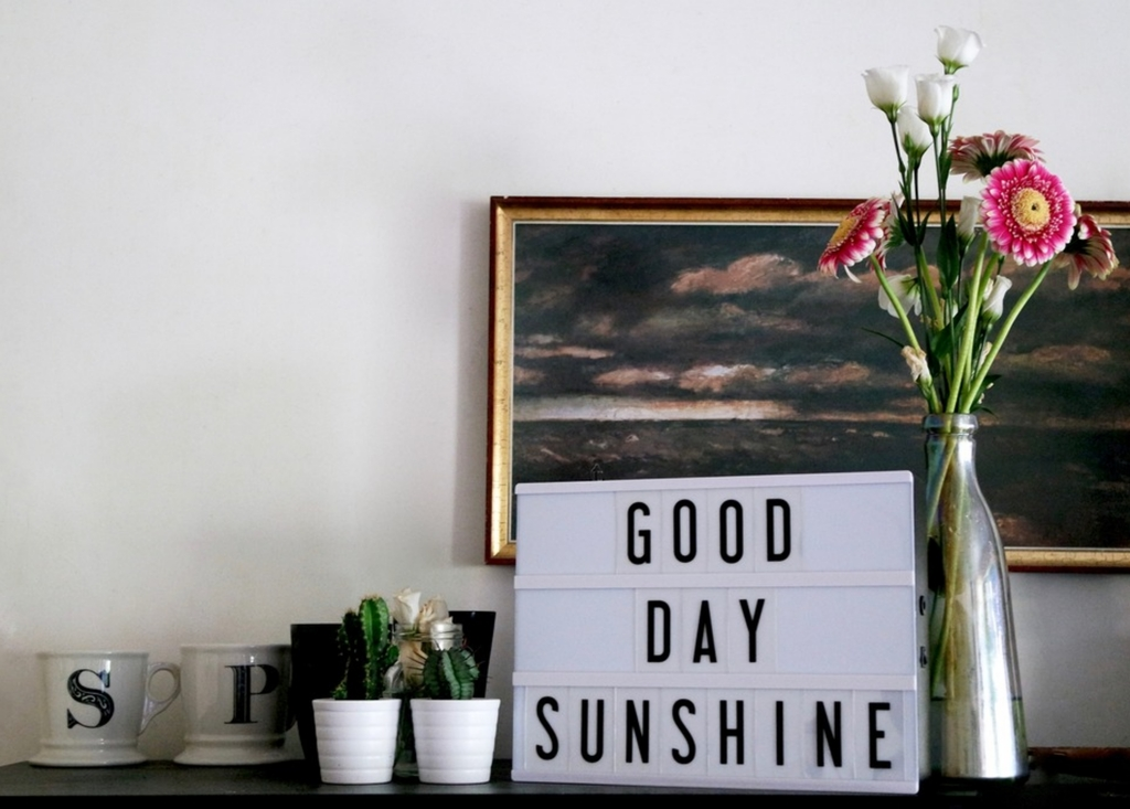 suz and the sun home, uncommon goods, cinema lightbox, good day sunshine