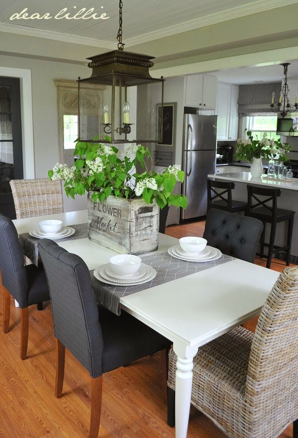 dining room with revere pewter walls
