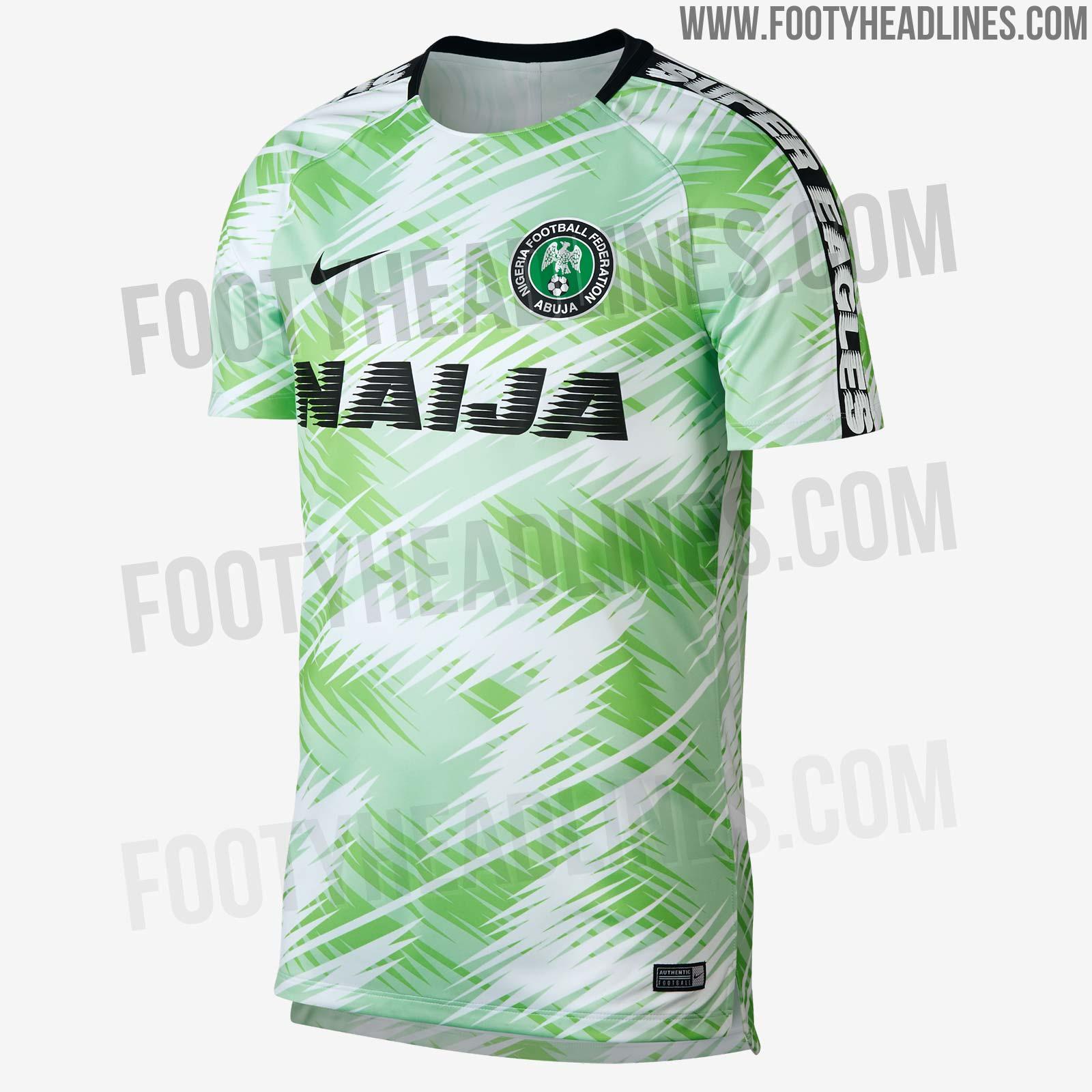 spectacular nike nigeria 2018 world cup pre match shirt