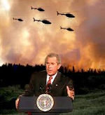Satan has appointed his pawn (President Bush) to be his fire starter, who will start so many fires