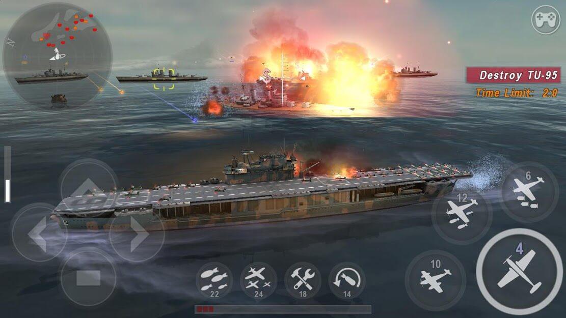 WARSHIP BATTLE : 3D World War II v 3.1.2 apk mod DINHEIRO INFINITO