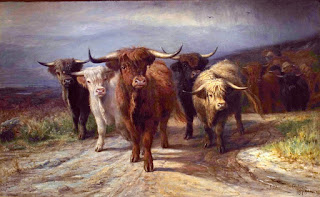 Joseph Denovan Adam  painting of cattle