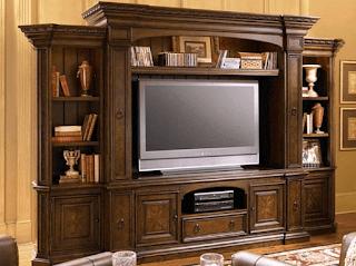 Lemari tv minimalis kayu jati