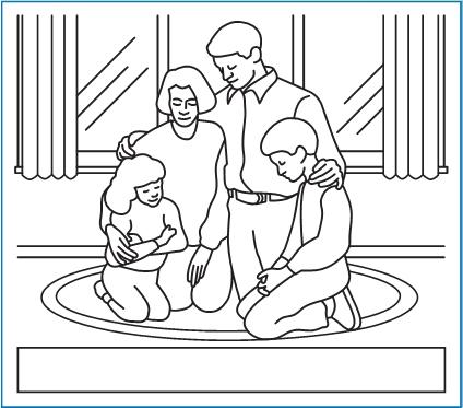 Dibujos De Personas Orando Al Levantarse Para Colorear