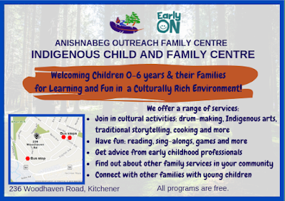 Poster promoting child and family centre