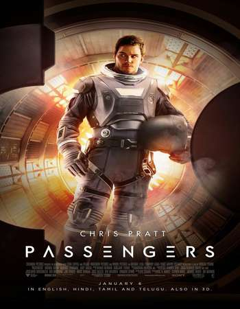 Poster Of Passengers 2016 English  300MB  720p  HEVC Free Download Watch Online 300MB.in