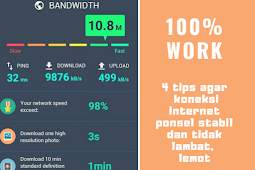Tips agar koneksi data internet stabil | cara mempercepat koneksi internet