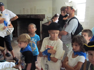 Watching them make paper in Colonial Williamsburg