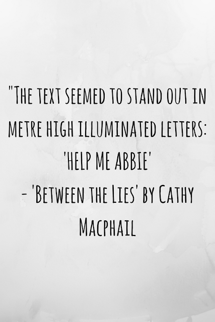 Review of 'Between the Lies' by Cathy Macphail