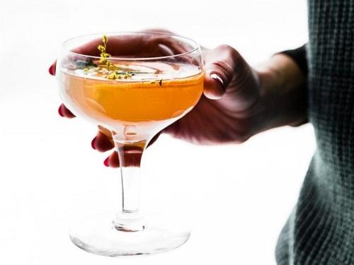 Light Paloma Cocktail with Orange