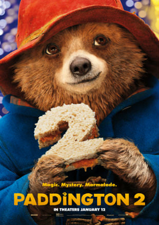 Poster of Paddington 2 2017 Full English Movie Download HDTS 1.4Gb