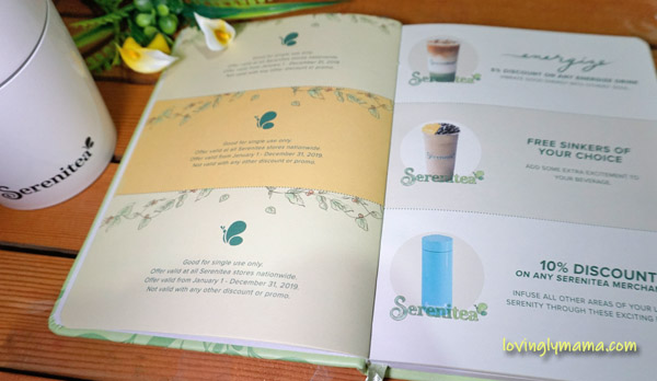 2019 Serenitea Diary - Serenitea planner - Serenitea - milk tea - Bacolod blogger - Bacolod mommy blogger - best milk tea in the Philippines - free Serenitea diary - free Serenitea planner