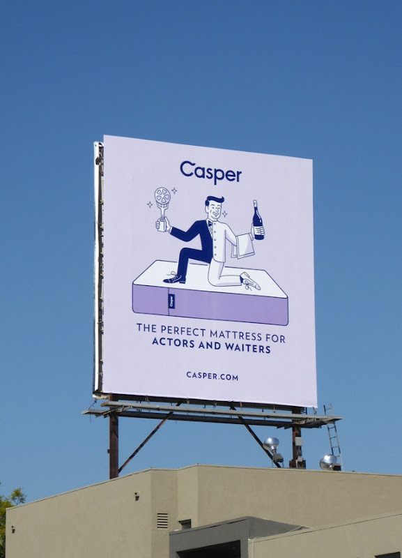 Casper perfect mattress actors waiters billboard