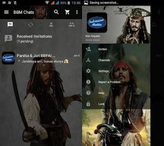 BBM Jack Sparrow v2.11.0.18 Apk