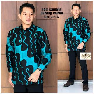 Batik Kemeja Batik Lengan Panjang Parang Warna
