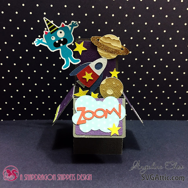 ScrappyScrappy: Space Alien card with Angeline #svgattic #scrappyscrappy #outtathisworld #boxcard #svg #diecut #alien #space #card #cardmaking #papercraft
