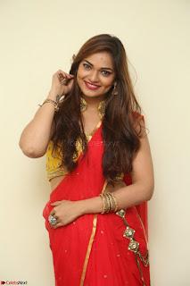 Actress Ashwini in Golden choli Red saree Spicy Pics ~  033.JPG