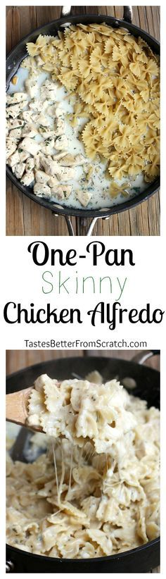 One-Pan Skinny Chicken Alfredo