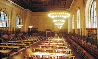 New York Public Library, di Rose Reading Room of the 42nd Street Branch.