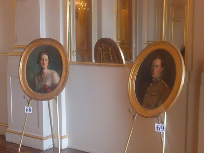 paintings King Leopold III and Queen Astrid of Belgium in Brussels