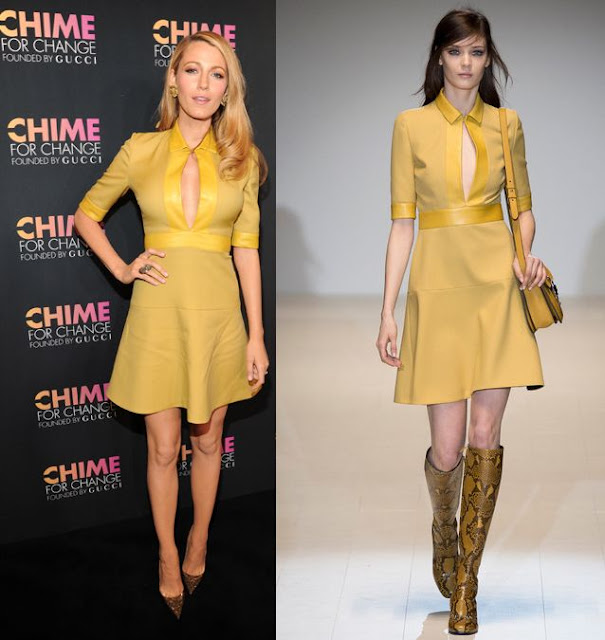 Blake Lively in Gucci – Chime for Change One-Year Anniversary Event