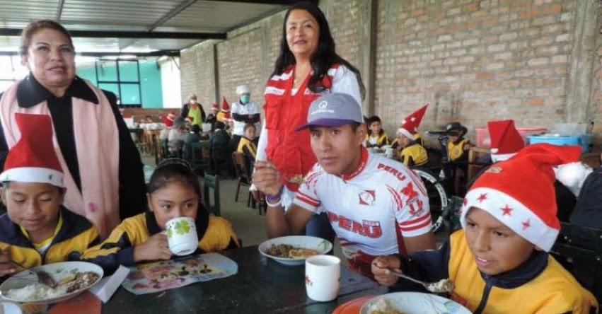 QALI WARMA: Campeón de ciclismo promueve el consumo de sangrecita, hígado y bazo en su escuela - www.qaliwarma.gob.pe