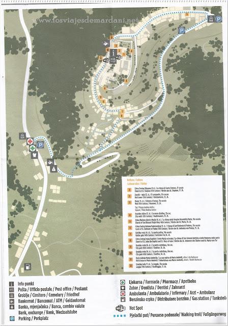 Mapa turístico de Motovun