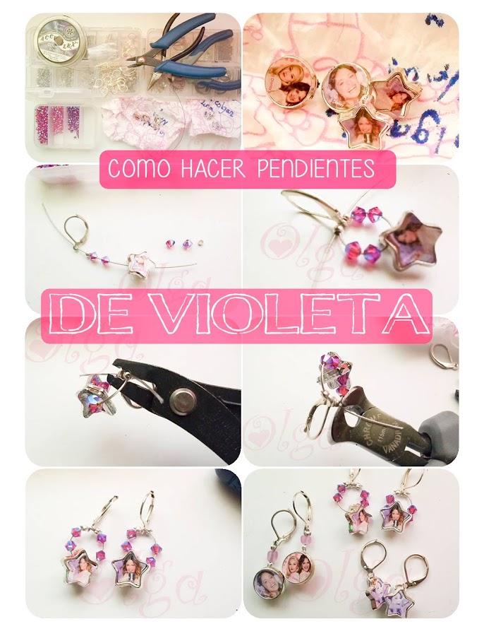 Tutorial como hacer pendientes de Violeta, la serie