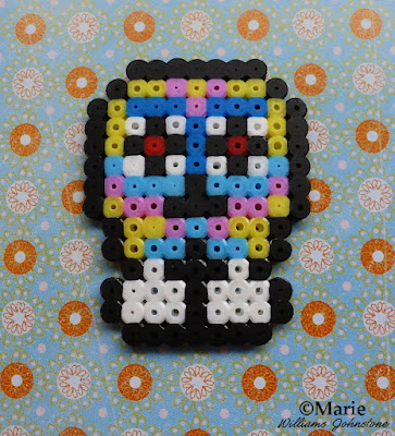 halloween sugar skull fused beads hama