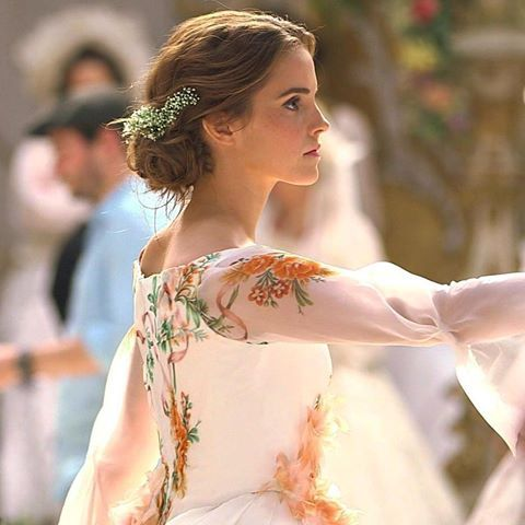 vestido rosas A bela e a Fera