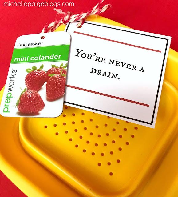 Printable colander pun valentine @michellepaigeblogs.com