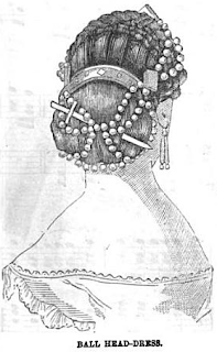 Ball Head-Dress Peterson's Magazine August 1865
