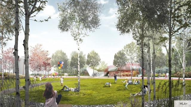 """Le concept d'espaces publics LCD """"Scandinavie"""". Fourni par le groupe de sociétés A101"""