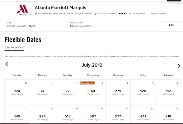 BUG-Atlanta Marriott Marquis 亞特蘭大馬奎斯萬豪酒店—錯誤價格29USD 起