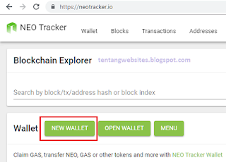 Cara membuat wallet Neo Platform
